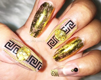 Versace Press On Nails