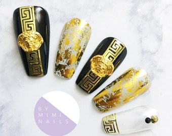 Versace Inspired Press On Nails