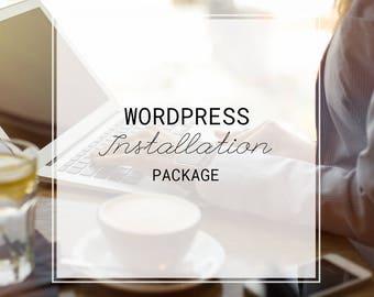 Wordpress & Theme Installation