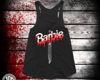 Barbie Killer - Women's Racerback Tank - Black