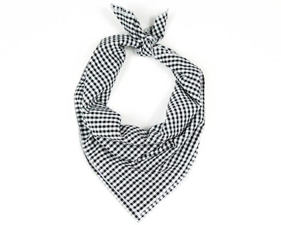 Black and White Checkered Plaid Bandana