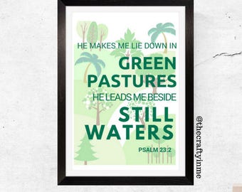 Printable Wall Art_Psalm Chapter 23 verse 2