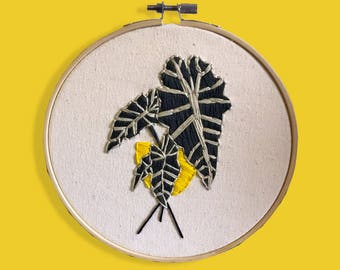 philodendron embroidery