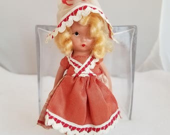 Vintage Nancy Ann Doll - Going A Milking #126