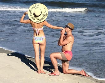"""3 Or More! Ships from USA, Personalized Hat, sequin sun hat 6"""" brim, do not disturb, 5 o'clock somewhere, leave a message"""