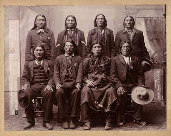 Native American Indians Plenty Horses Trial 1890 Photo Art Print Picture A4