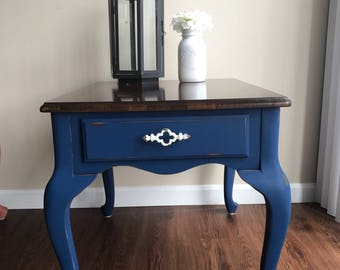 Beautiful Blue End Table