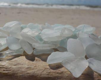"""100 pcs Bulk white SUPER TINY Genuine Sea Glass 0,2-0,4""""-Craft quality-For Jewelry Art, Mosaic, Home -Wedding decor#27B#"""