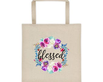 Blessed tote, bag, Christian, inspiraional