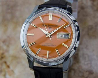 Seiko Sportsmatic 1960s Vintage Automatic Day Date Made in Japan Date Watch YY7