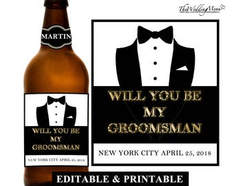 Asking Groomsmen Ask Groomsmen Be my Groomsman Gift Asking Groomsman Ask Groomsman Proposal Groomsman Card Cool Groomsmen Gift Custom Liquor