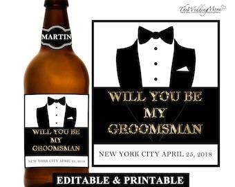 Asking Groomsmen, Be My Groomsman Gift, Ask Groomsman, Proposal Groomsman Card, Cool Groomsmen Gift, Custom Liquor