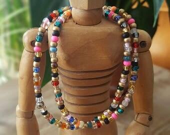 Chain of Czech glass beads