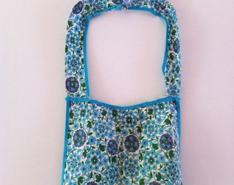 Vintage cotton apron, size 10, handmade full apron.