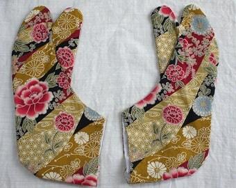 second hand tabi, Japanese tabi socks, socks for kimono, cotton