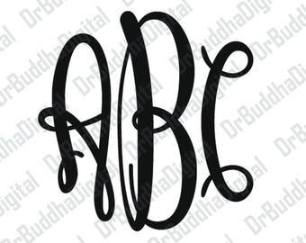 Sale! Keepsake Monogram Font SVG Collection - Monogram Alphabet DXF - Monogram Letter Clipart - File for Silhouette Cameo or Cricut