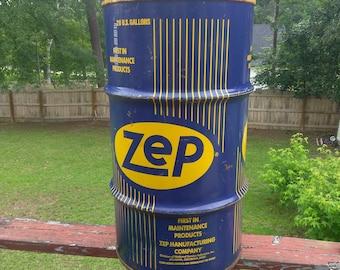 Antique Zep Petroleum 30 Gallon Can