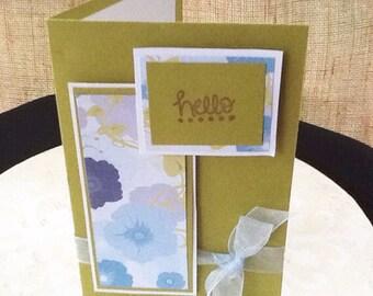 "Dimensional ""Hello"" Greeting Card"