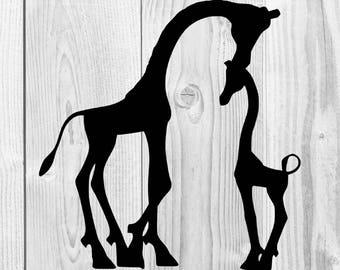Giraffe Silhouette Etsy