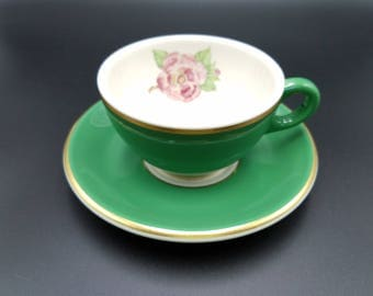 Syracuse Coffee Cup ~ Drake Grand Hotel ~ Dorothy Draper Design ~ Wild Pink Rose