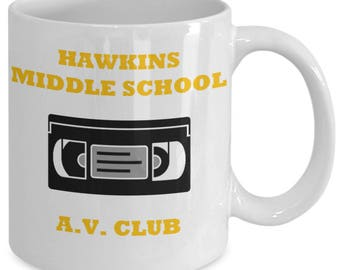Hawkins Middle School A.V. Club 11 oz Coffee Mug