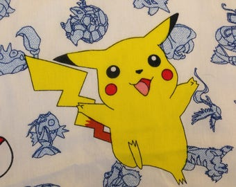 Vintage Pokemon TWIN FLAT Sheet - 1998 Nintendo