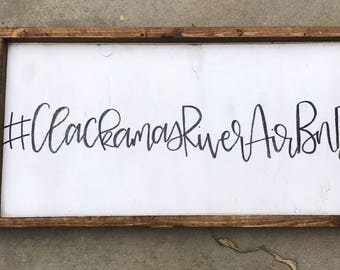 Hashtag Sign - Custom Sign - Kitchen Sign - Gallery Wall - Hashtag