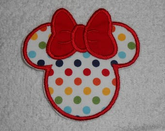 Polka Dot Minnie Mouse Iron on Applique Patch