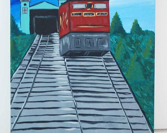 Pittsburgh Incline Acrylic Canvas Painting