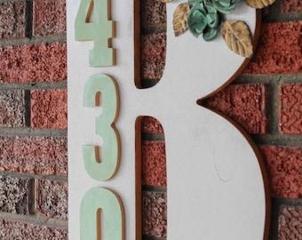Monogrammed Address Sign
