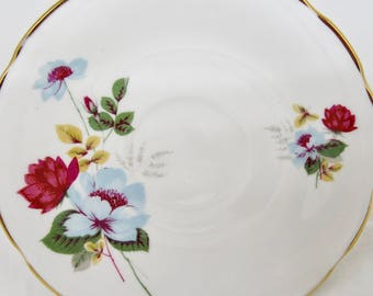 Royal Trent Orphan Bone China Saucer Floral Pattern Replacement Saucer Only No Teacup