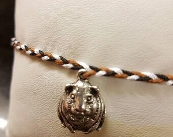 Guinea pig charm bracelet