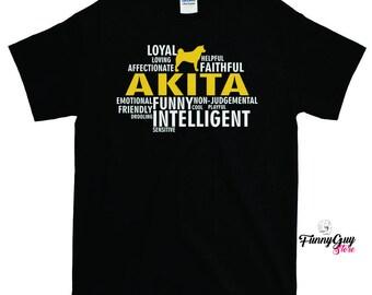 Akita T-shirt - All Characteristics Of a Dog - Gift For Akita Owners