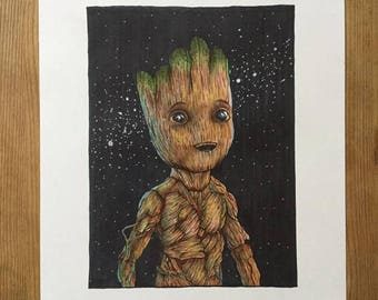 Baby Groot - A3 Print