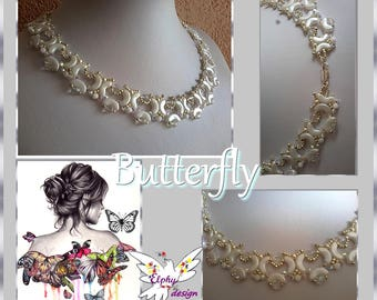 Collier BUTTERFLY ; PDF de huit pages