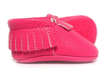 Moccasins /// Bright Pink