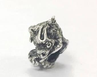 Chameleon by Sashini beads design  925 sterling silver bead charm  fits european bracelet jewelry