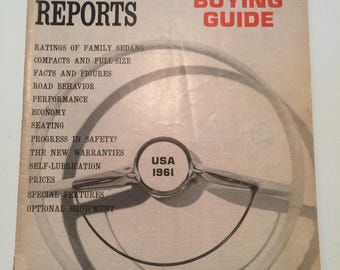 Vintage Consumer Report Auto Edition 1961