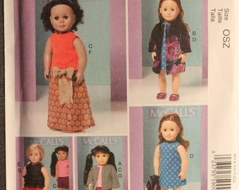 McCalls 7639   18in Doll Clothes