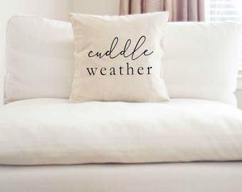 Cuddle Weather Throw Pillow Cover | Throw Pillow | Home decor | Fall Decor | Fall Pillow | Cuddle pillow | cuddle weather | winter pillow