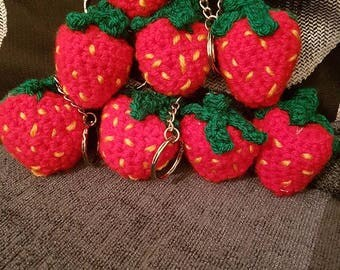 strawberry key rings