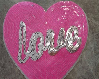 LOVE Sew on applique