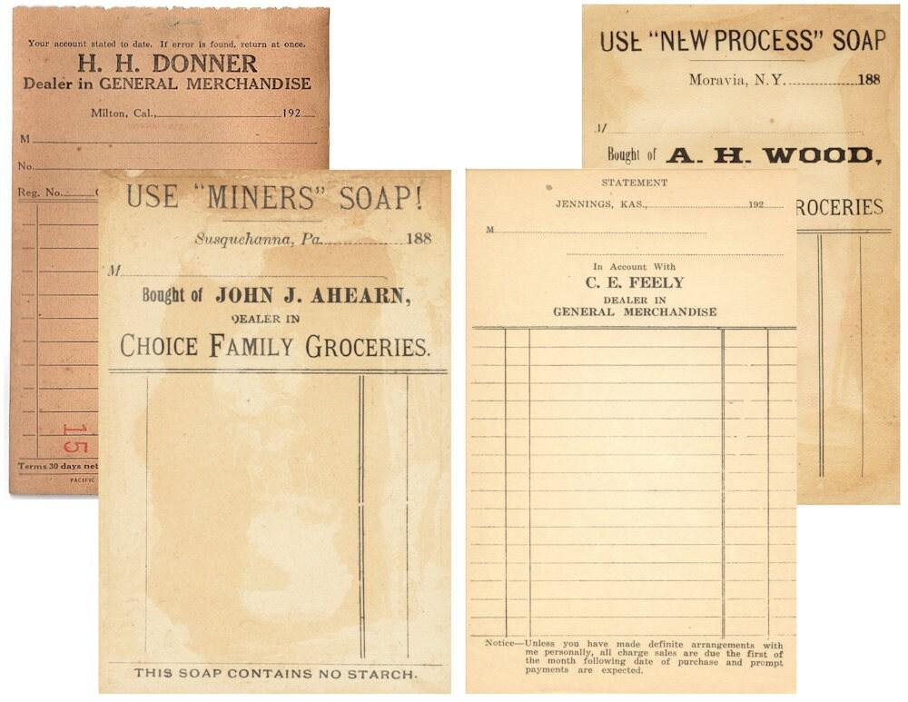 Blank Vintage Receipt Ledger Vintage Font Junk Journal – Receipt Ledger
