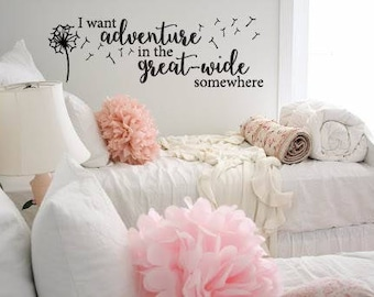 I Want Adventure in the Great Wide Somewhere Belle Beauty and the Beast Movie Quote Vinyl Wall Decal