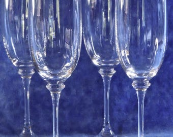 Mikasa Stephanie Four Fluted Champagne Glasses