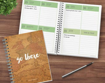 Go There Kraft Map 16 Month 2018 Daily Weekly Monthly Planner Agenda