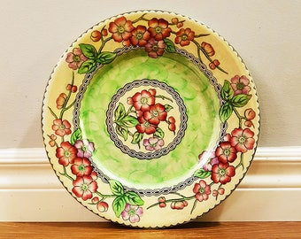 Vintage Art Deco Maling 'May Bloom' Lustre Plate, Made in England