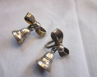 Damaso Gallegos Taxco Mexico Christmas Bells Sterling Silver Earrings BOOK PIECE