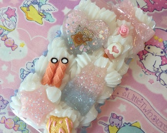 iPhone 6s Decoden Phone Case Kawaii Fairy Kei Pastel Blue Side Drip READY TO SHIP