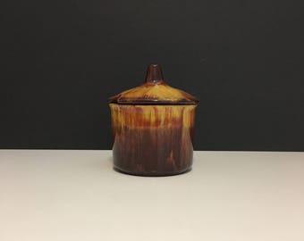 Vintage Harvest Gold Blue Mountain Pottery Sugar Bowl